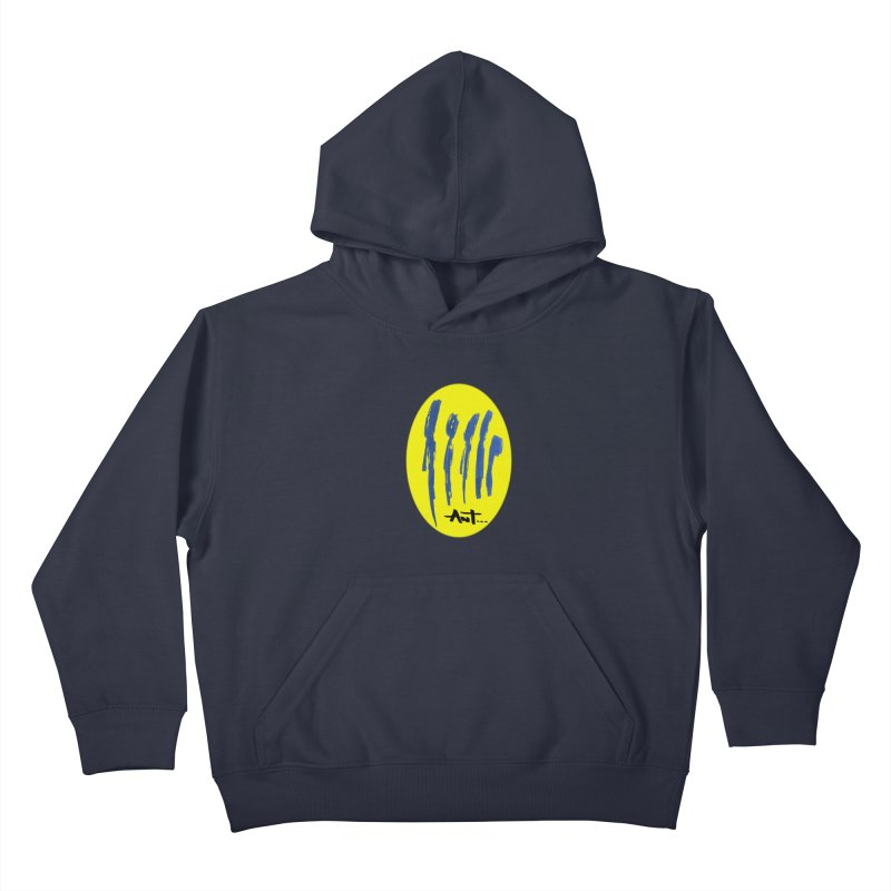 Peoples are abstract yellow Kids Pullover Hoody by antartant's Artist Shop