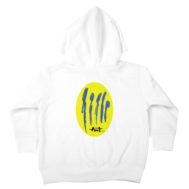 Peoples are abstract yellow Kids Toddler Zip-Up Hoody by antartant's Artist Shop