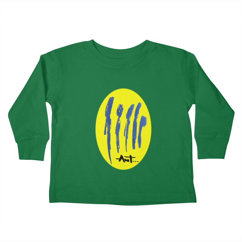 Peoples are abstract yellow Kids Toddler Longsleeve T-Shirt by antartant's Artist Shop