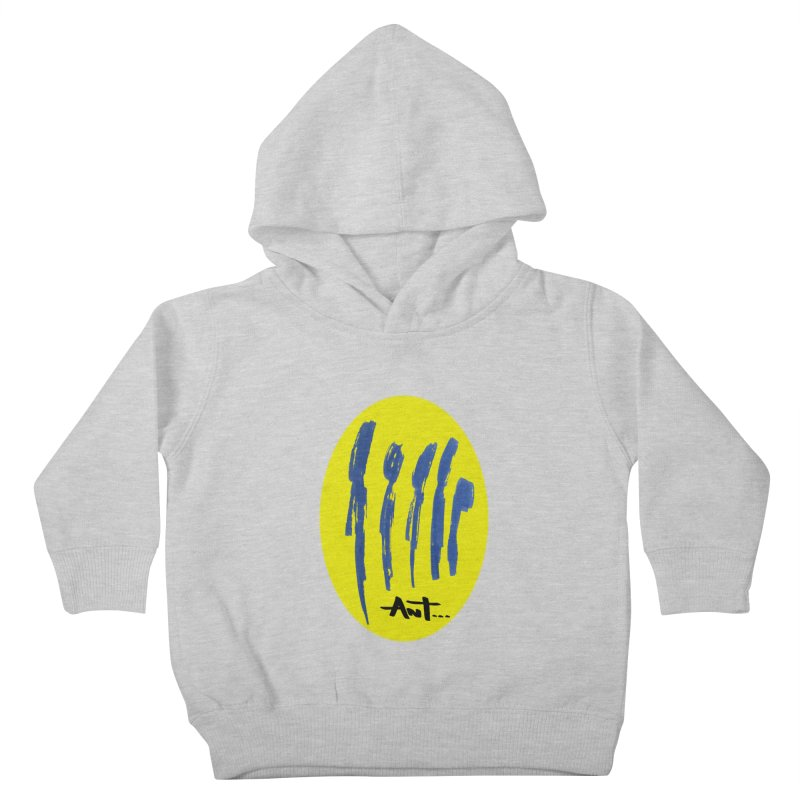 Peoples are abstract yellow Kids Toddler Pullover Hoody by antartant's Artist Shop