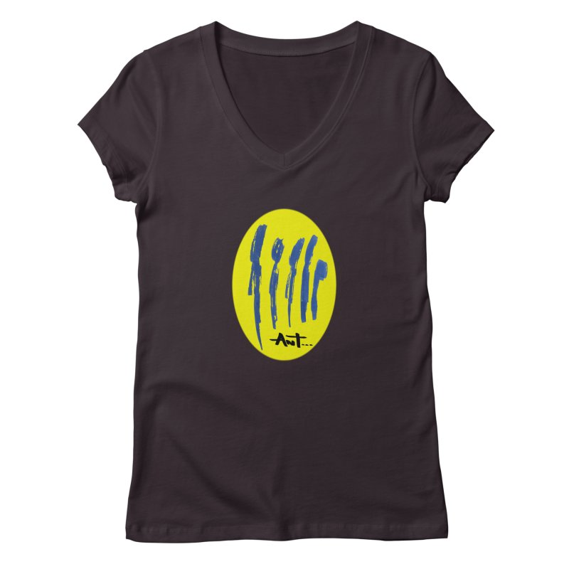 Peoples are abstract yellow Women's V-Neck by antartant's Artist Shop