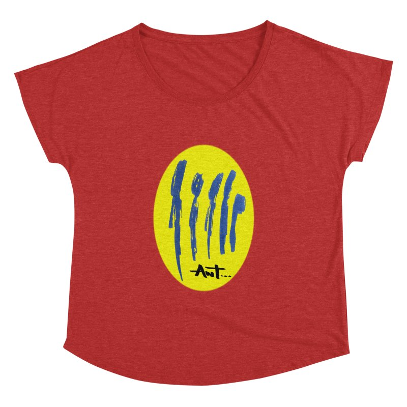 Peoples are abstract yellow Women's Dolman Scoop Neck by antartant's Artist Shop