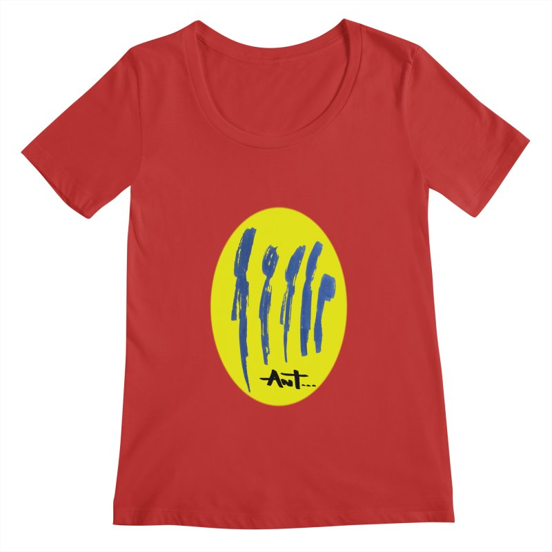 Peoples are abstract yellow Women's Regular Scoop Neck by antartant's Artist Shop