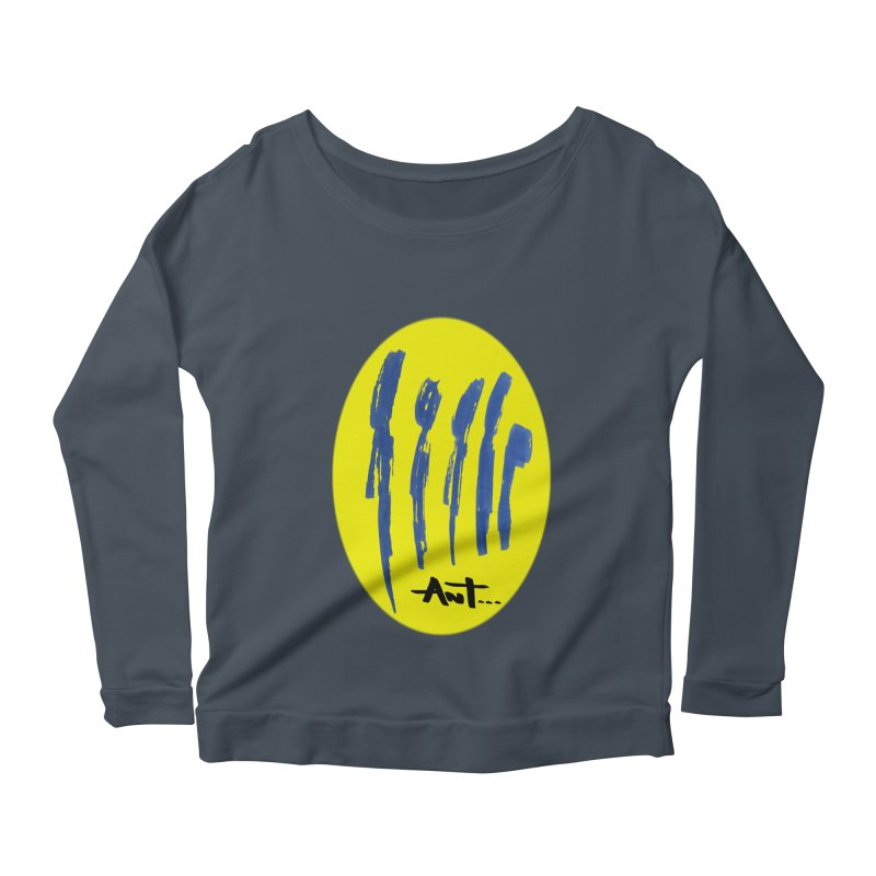 Peoples are abstract yellow Women's Longsleeve Scoopneck  by antartant's Artist Shop
