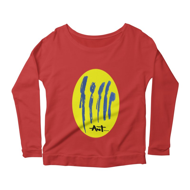 Peoples are abstract yellow Women's Scoop Neck Longsleeve T-Shirt by antartant's Artist Shop