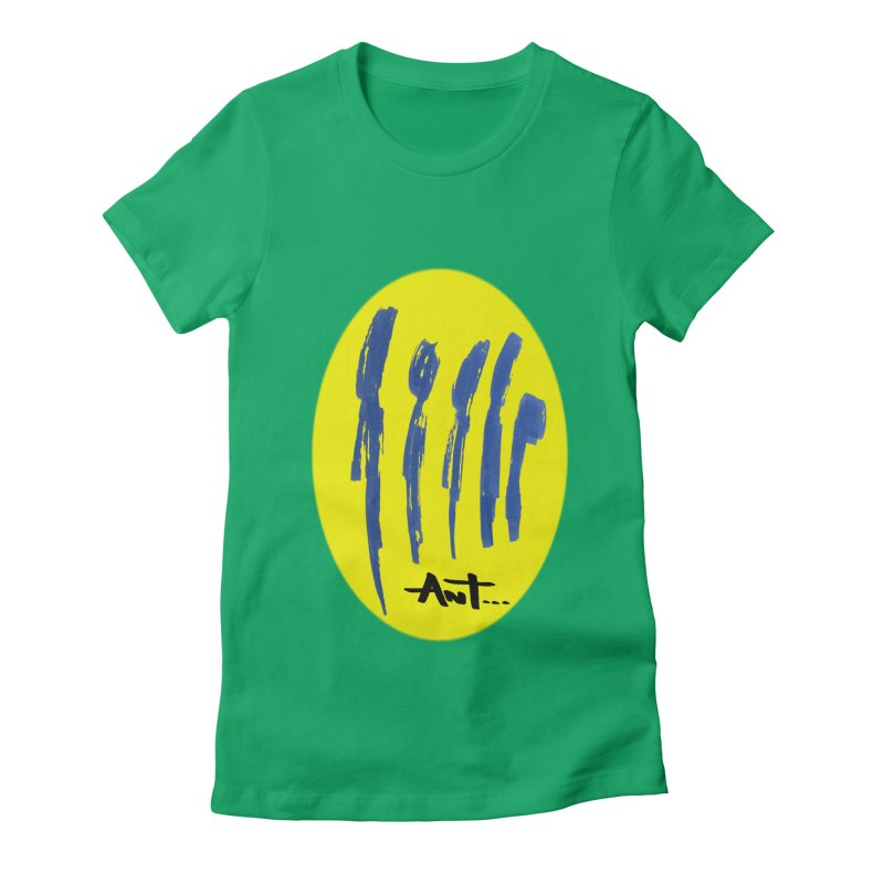 Peoples are abstract yellow Women's Fitted T-Shirt by antartant's Artist Shop