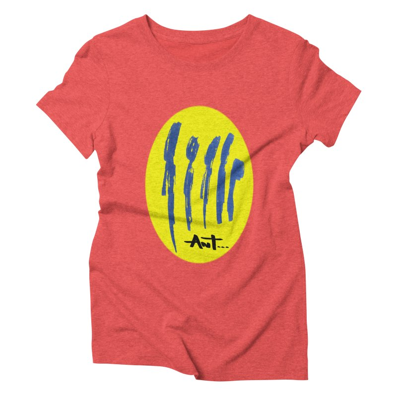Peoples are abstract yellow Women's Triblend T-Shirt by antartant's Artist Shop