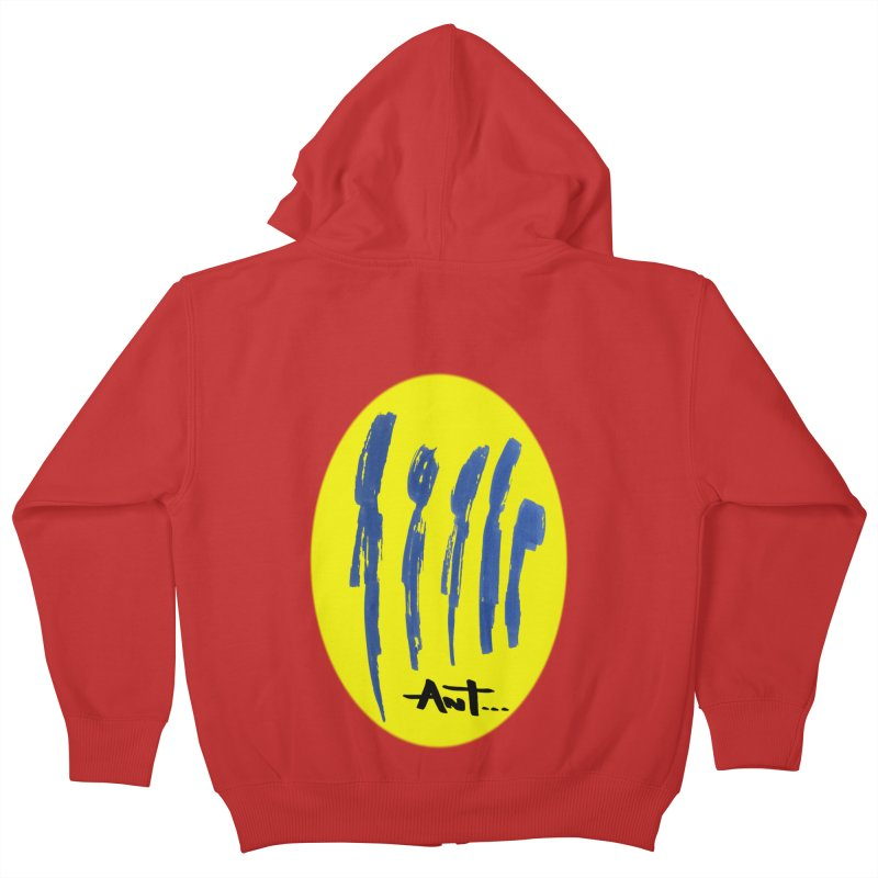 Peoples are abstract yellow Kids Zip-Up Hoody by antartant's Artist Shop
