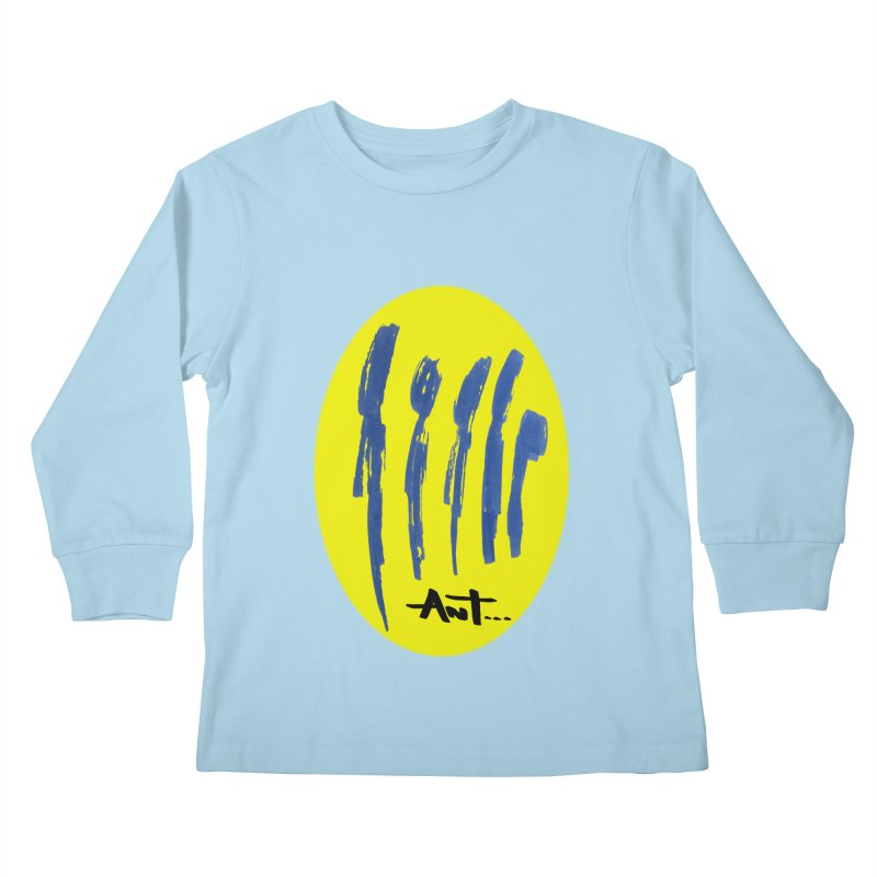Peoples are abstract yellow Kids Longsleeve T-Shirt by antartant's Artist Shop