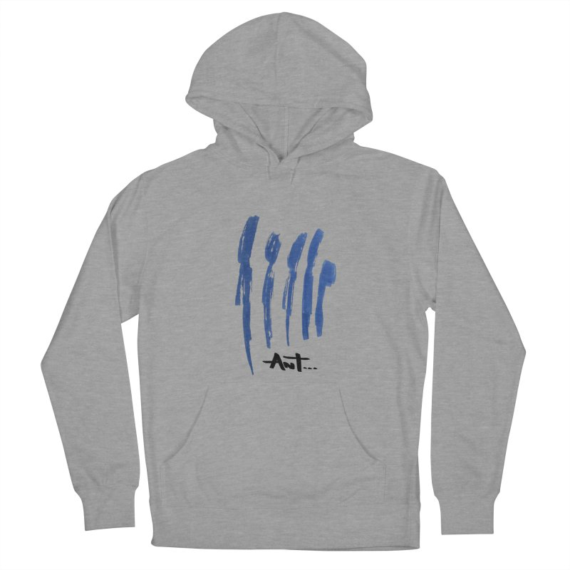 Peoples are abstract no background Men's French Terry Pullover Hoody by antartant's Artist Shop