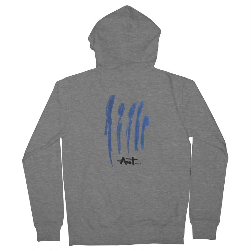 Peoples are abstract no background Women's French Terry Zip-Up Hoody by antartant's Artist Shop