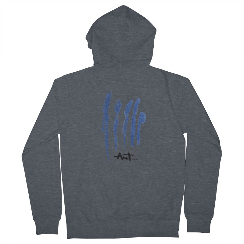 Peoples are abstract no background Men's French Terry Zip-Up Hoody by antartant's Artist Shop
