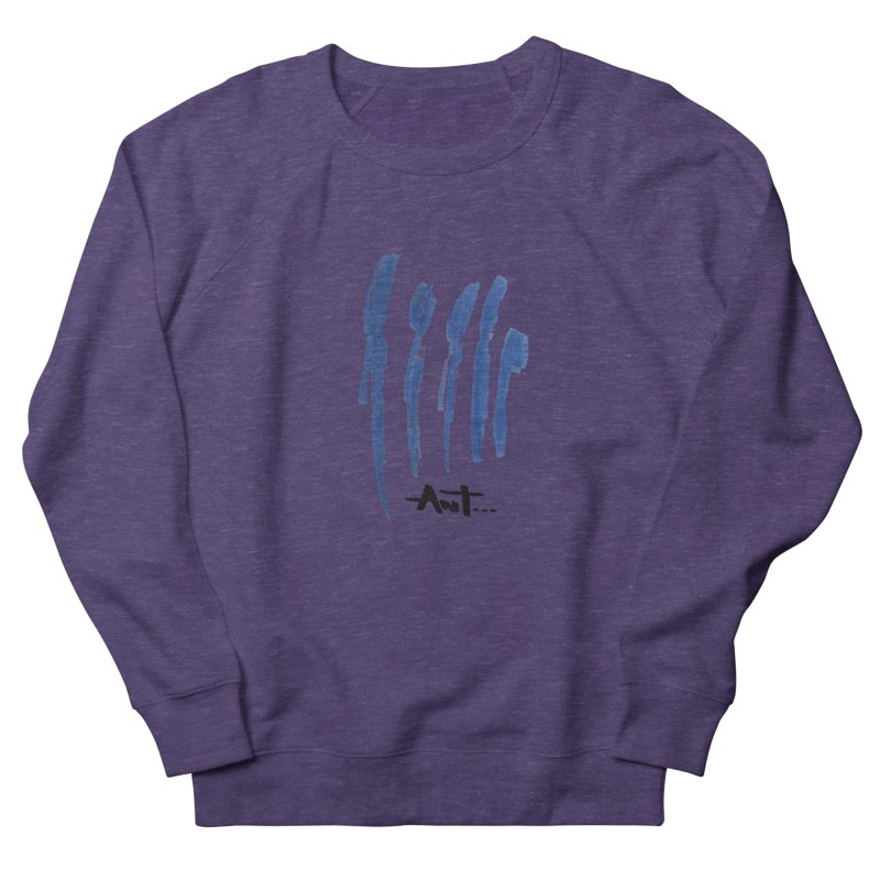 Peoples are abstract no background Women's French Terry Sweatshirt by antartant's Artist Shop
