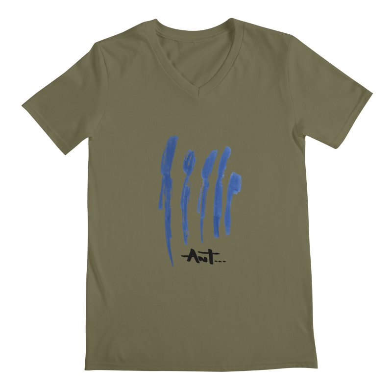 Peoples are abstract no background Men's V-Neck by antartant's Artist Shop