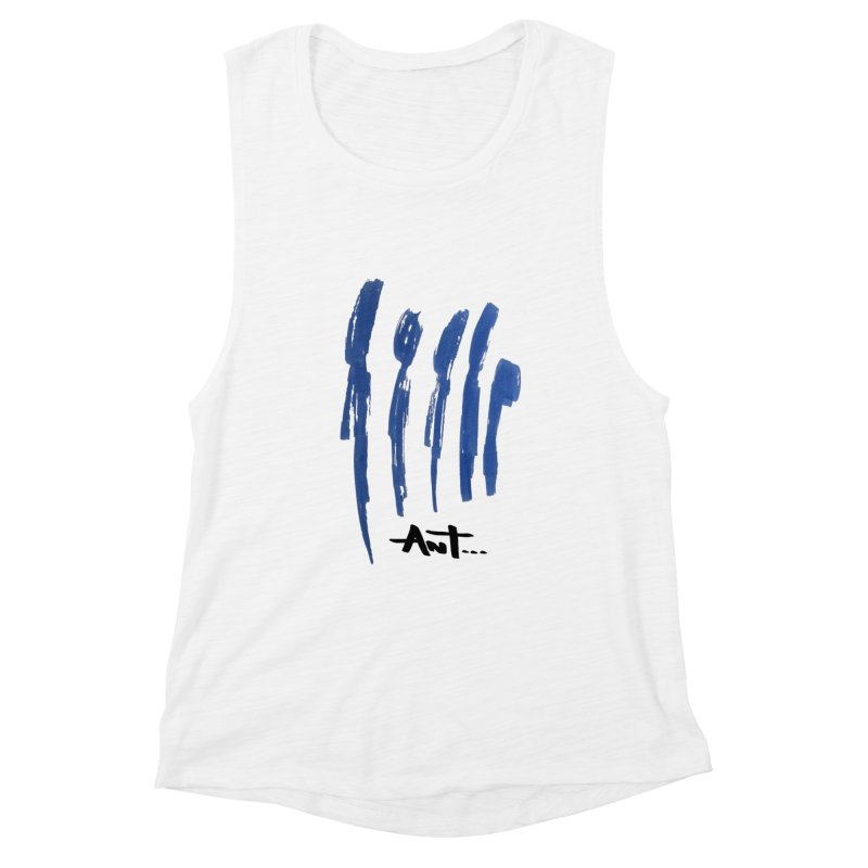 Peoples are abstract no background Women's Muscle Tank by antartant's Artist Shop