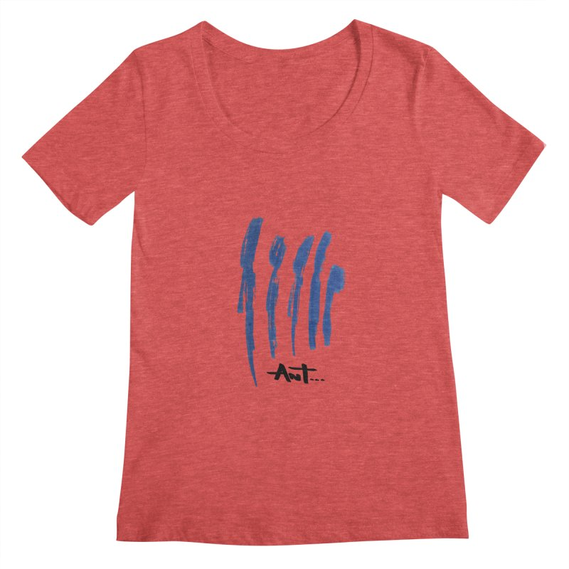 Peoples are abstract no background Women's Scoopneck by antartant's Artist Shop