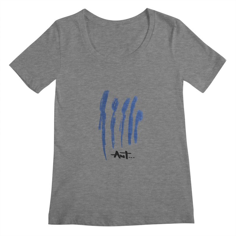 Peoples are abstract no background Women's Regular Scoop Neck by antartant's Artist Shop