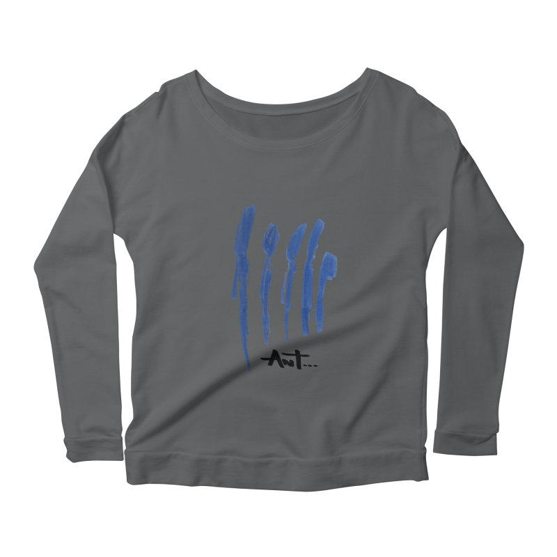 Peoples are abstract no background Women's Longsleeve Scoopneck  by antartant's Artist Shop