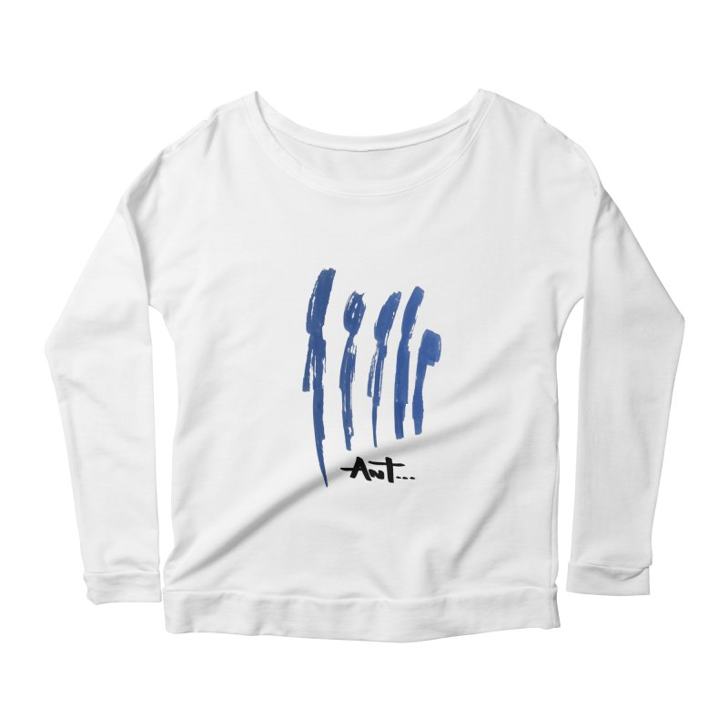 Peoples are abstract no background Women's Scoop Neck Longsleeve T-Shirt by antartant's Artist Shop