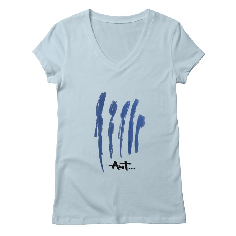 Peoples are abstract no background Women's V-Neck by antartant's Artist Shop