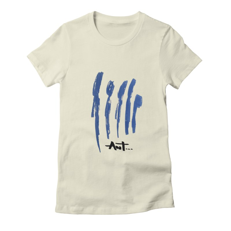 Peoples are abstract no background Women's Fitted T-Shirt by antartant's Artist Shop