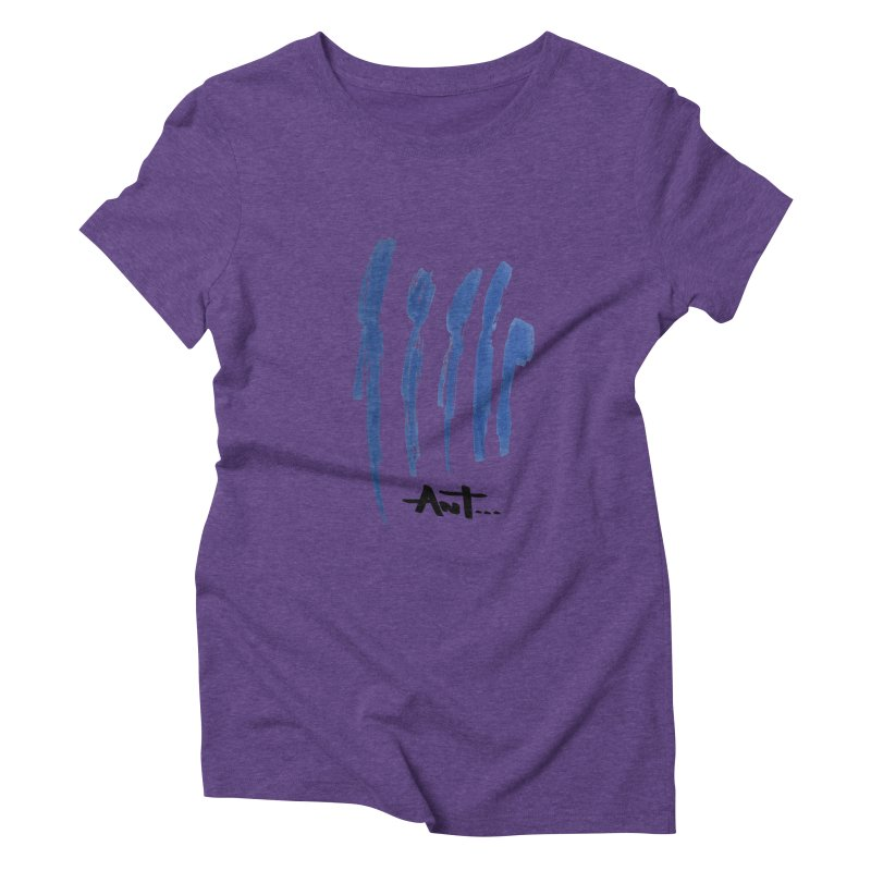 Peoples are abstract no background Women's Triblend T-shirt by antartant's Artist Shop