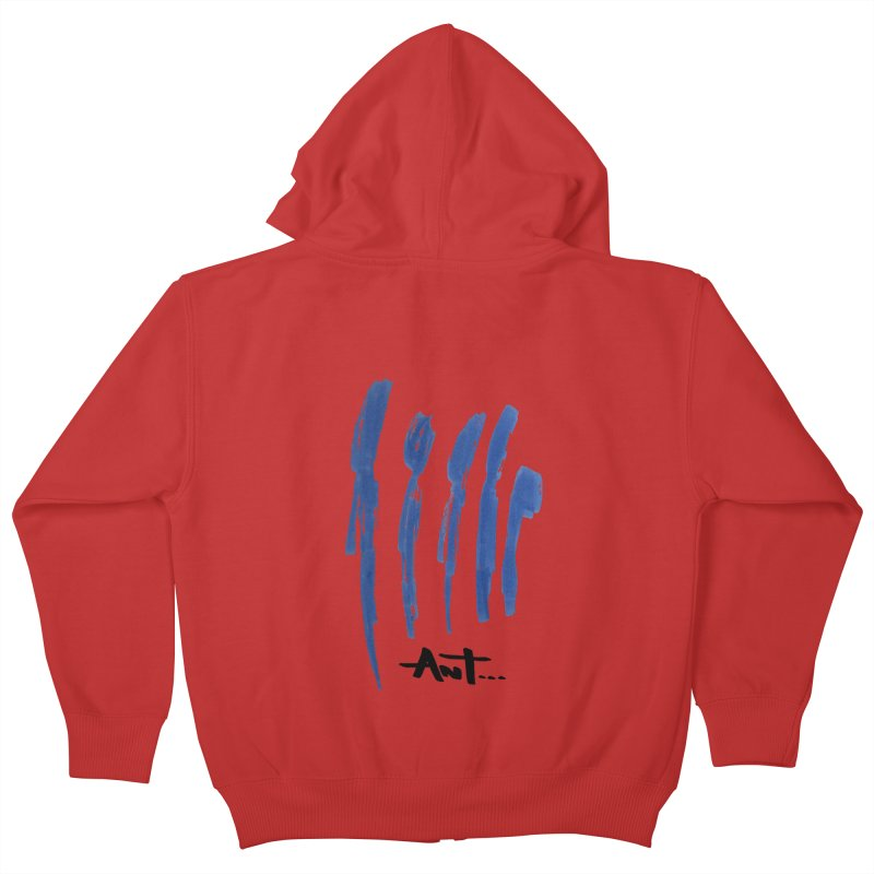 Peoples are abstract no background Kids Zip-Up Hoody by antartant's Artist Shop