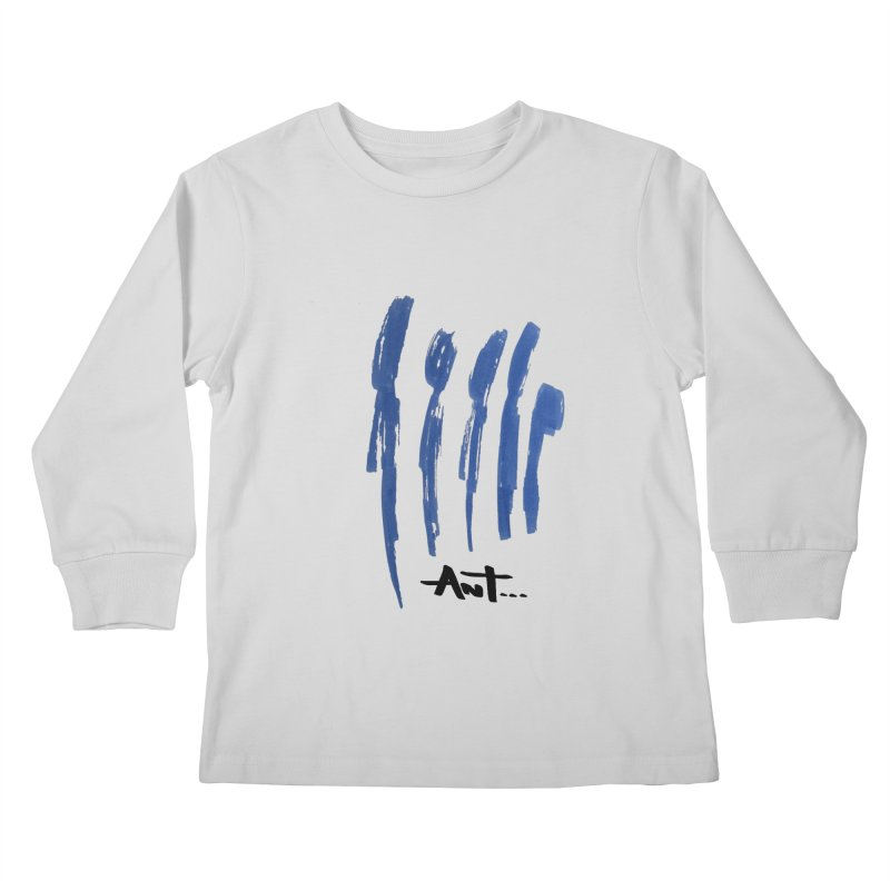 Peoples are abstract no background Kids Longsleeve T-Shirt by antartant's Artist Shop