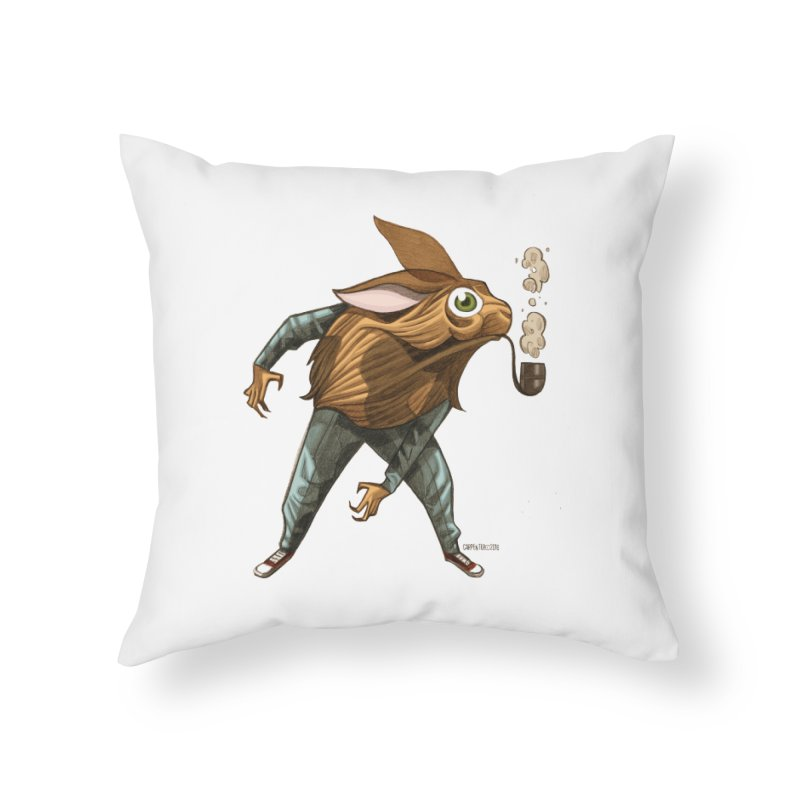 Harvey Home Throw Pillow by Illustrationsville!