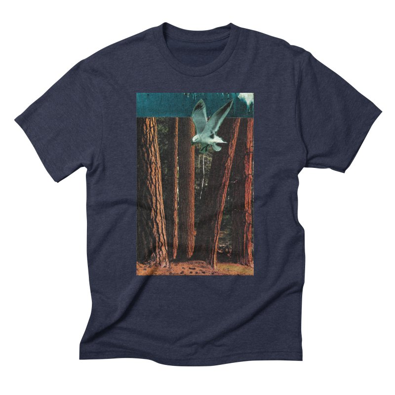 Redwood Shores in Men's Triblend T-Shirt Navy by Anthony Inswasty