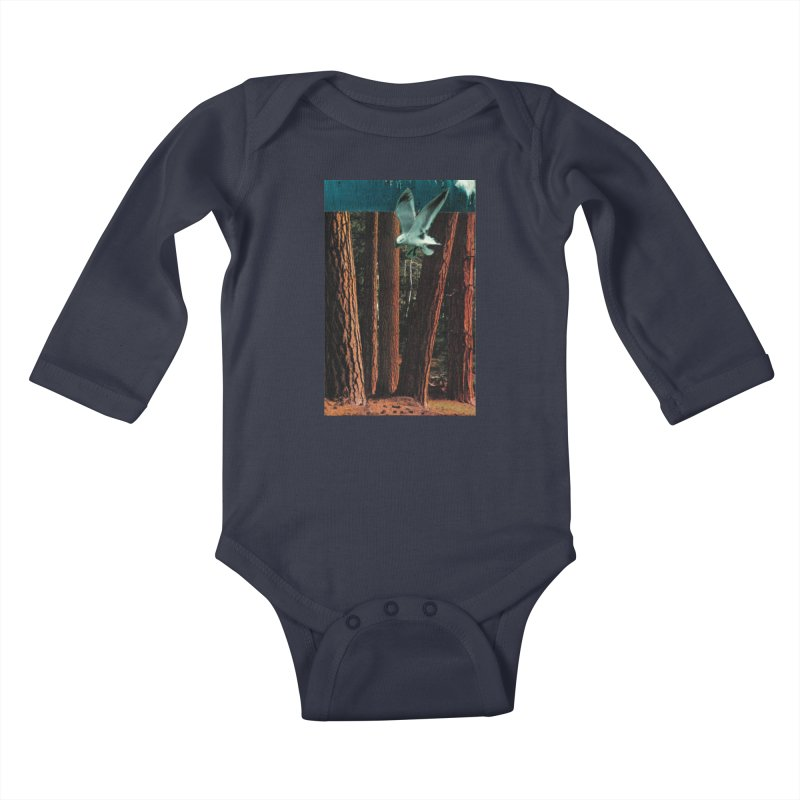 Redwood Shores in Kids Baby Longsleeve Bodysuit Midnight by Anthony Inswasty