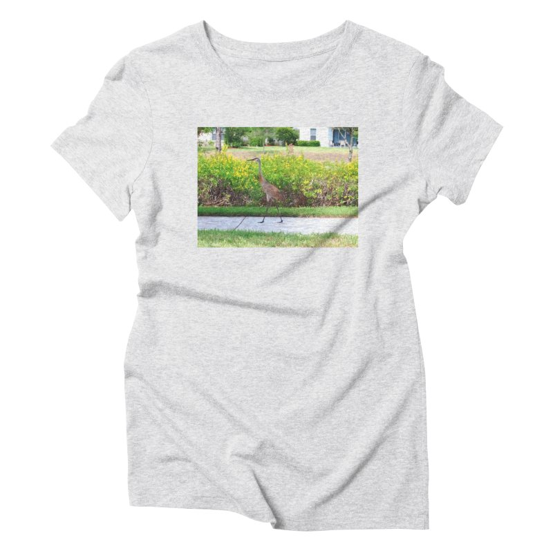 Sidewalker in Women's Triblend T-Shirt Heather White by Anthony Inswasty