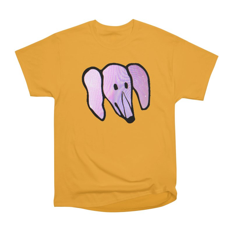 Snoot in Men's Heavyweight T-Shirt Gold by Anthony Inswasty
