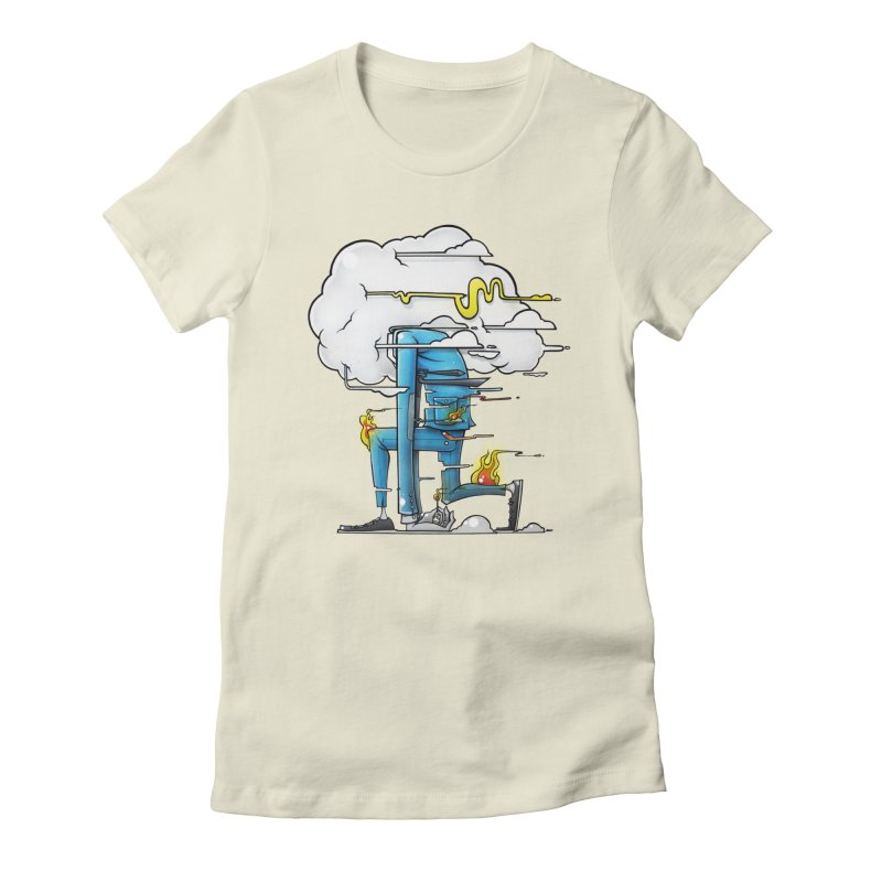 Can't Sit Still Women's Fitted T-Shirt by Anthony Lewellen