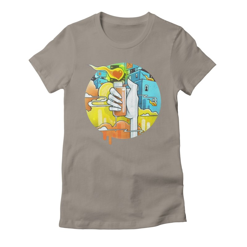 Fuel for the Fire Women's Fitted T-Shirt by Anthony Lewellen
