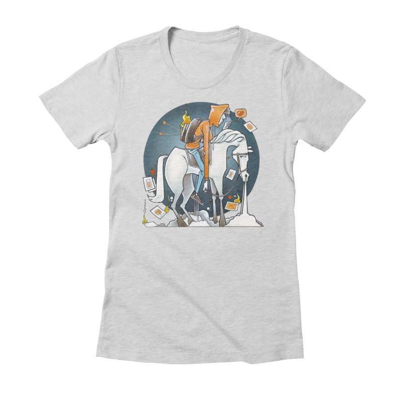 The Last Draw Women's Fitted T-Shirt by Anthony Lewellen
