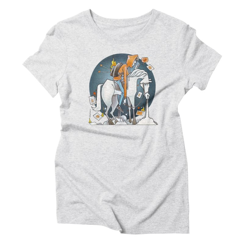 The Last Draw Women's Triblend T-Shirt by Anthony Lewellen