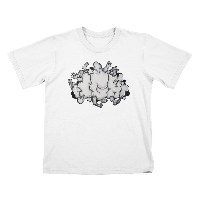 Fight Cloud Kids T-Shirt by Anthony Lewellen