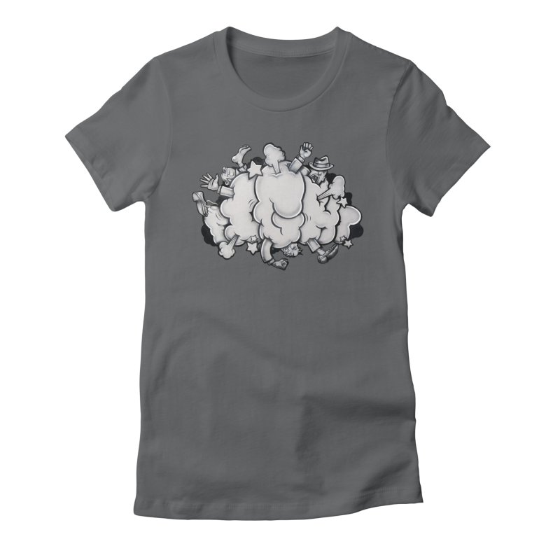 Fight Cloud Women's Fitted T-Shirt by Anthony Lewellen