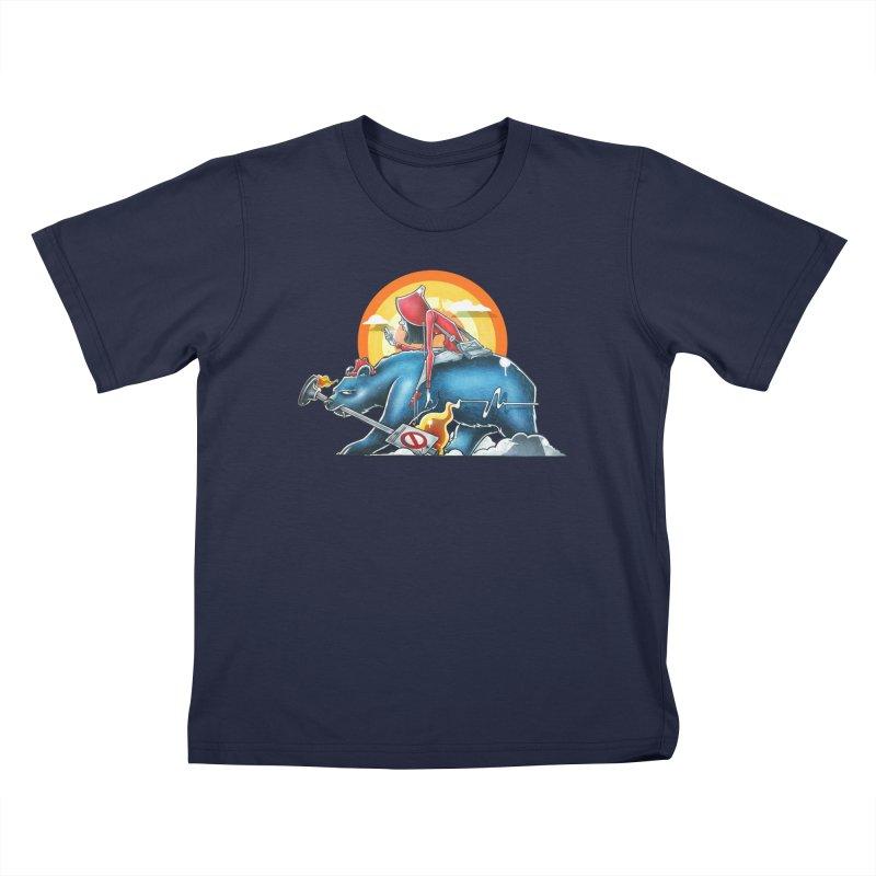 Strange Journey Kids T-Shirt by Anthony Lewellen