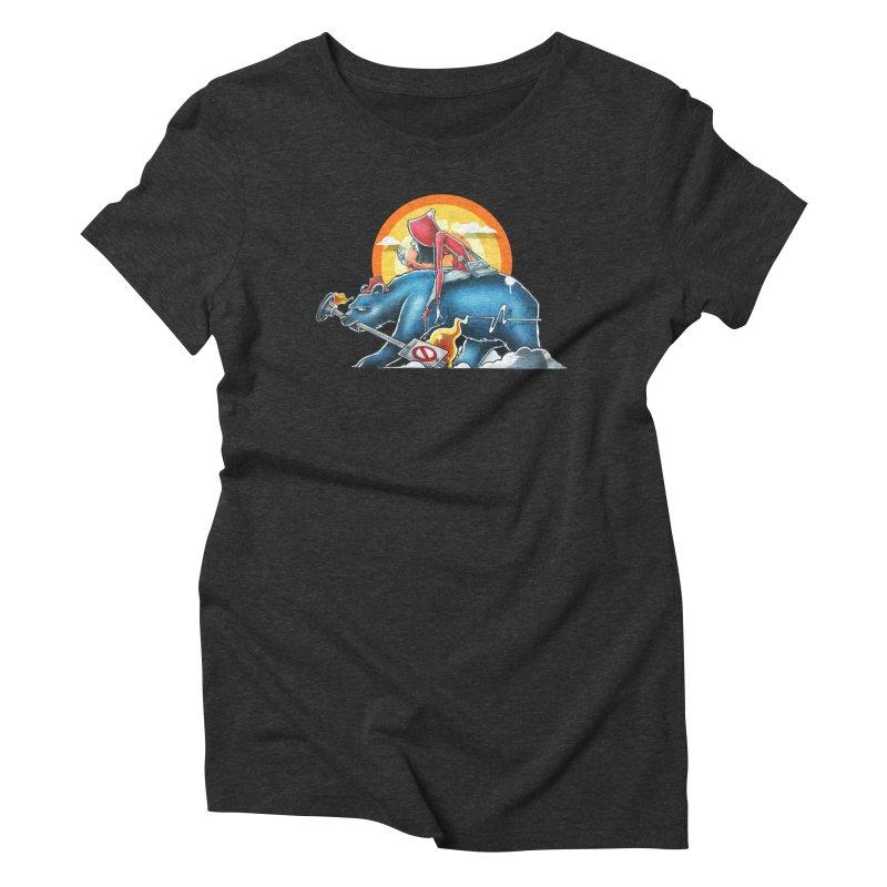 Strange Journey Women's Triblend T-Shirt by Anthony Lewellen