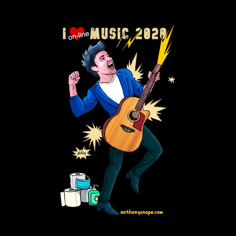 LIVE Merch 2020 Men's T-Shirt by Music Artist Anthony Snape