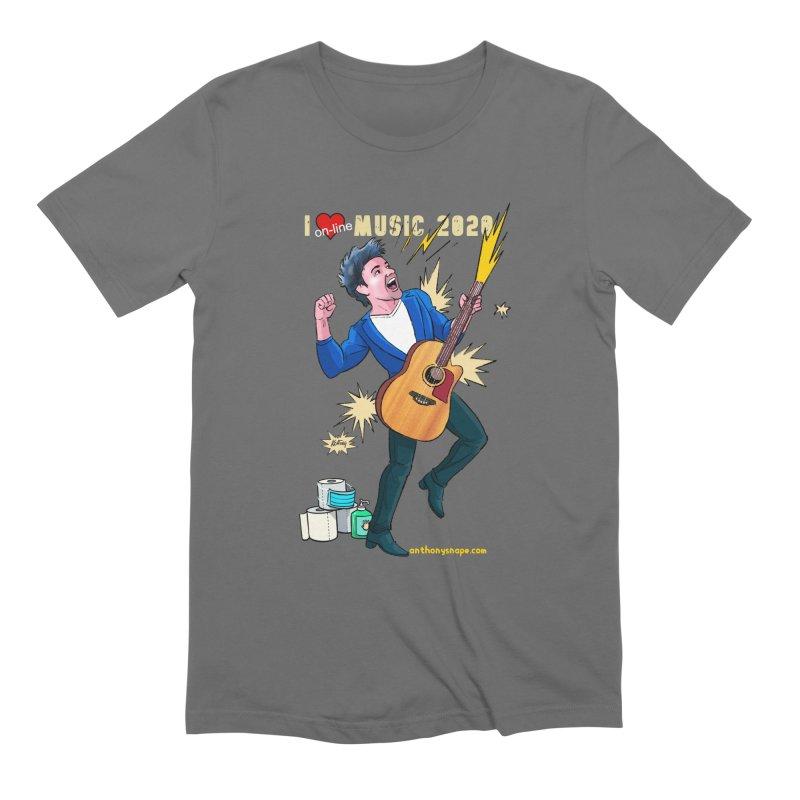 LIVE Merch 2020 Men's T-Shirt by Music Artist Anthony Snape