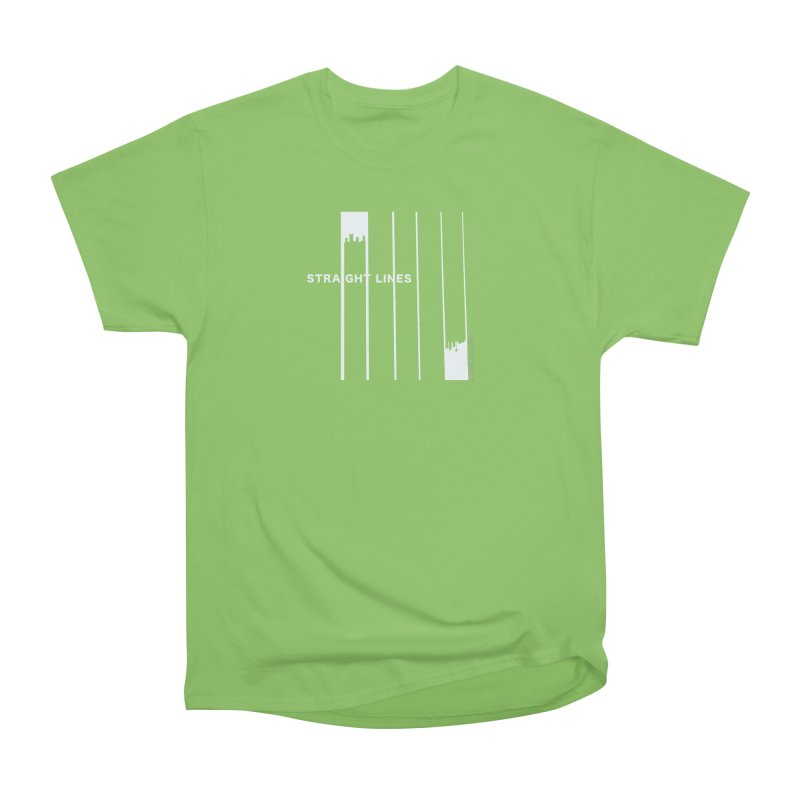 STRAIGHT LINES simple design Women's Heavyweight Unisex T-Shirt by Home Store - Music Artist Anthony Snape