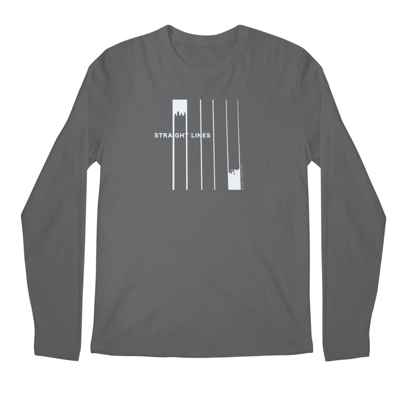 STRAIGHT LINES simple design Men's Longsleeve T-Shirt by Home Store - Music Artist Anthony Snape