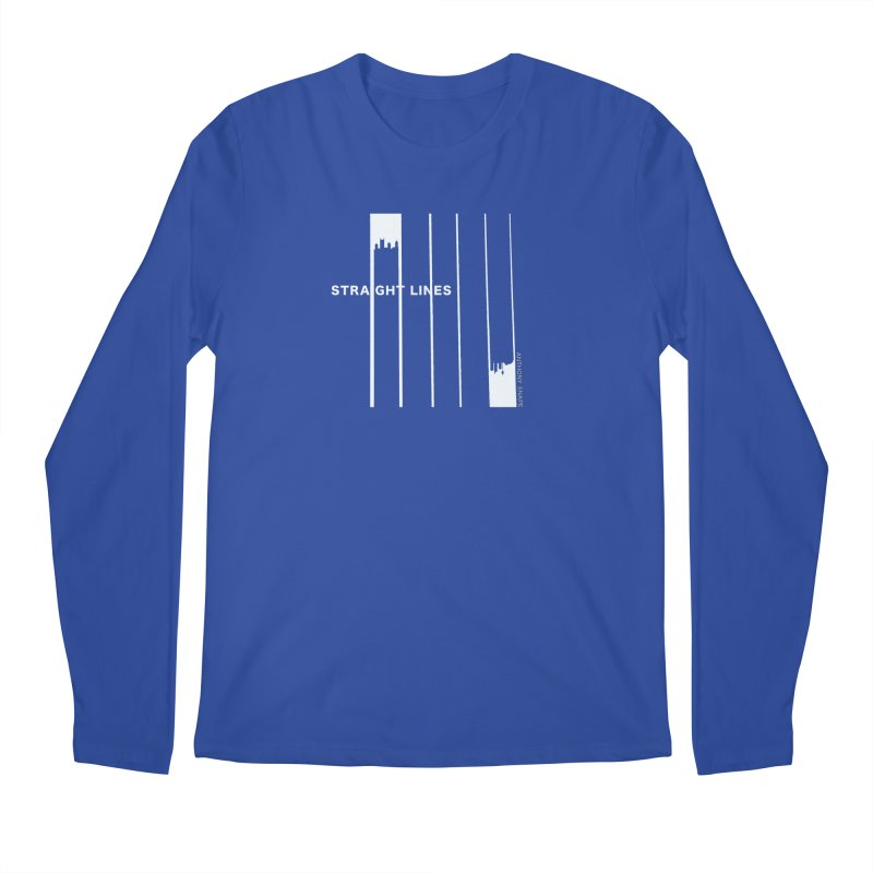 STRAIGHT LINES simple design Men's Regular Longsleeve T-Shirt by Home Store - Music Artist Anthony Snape