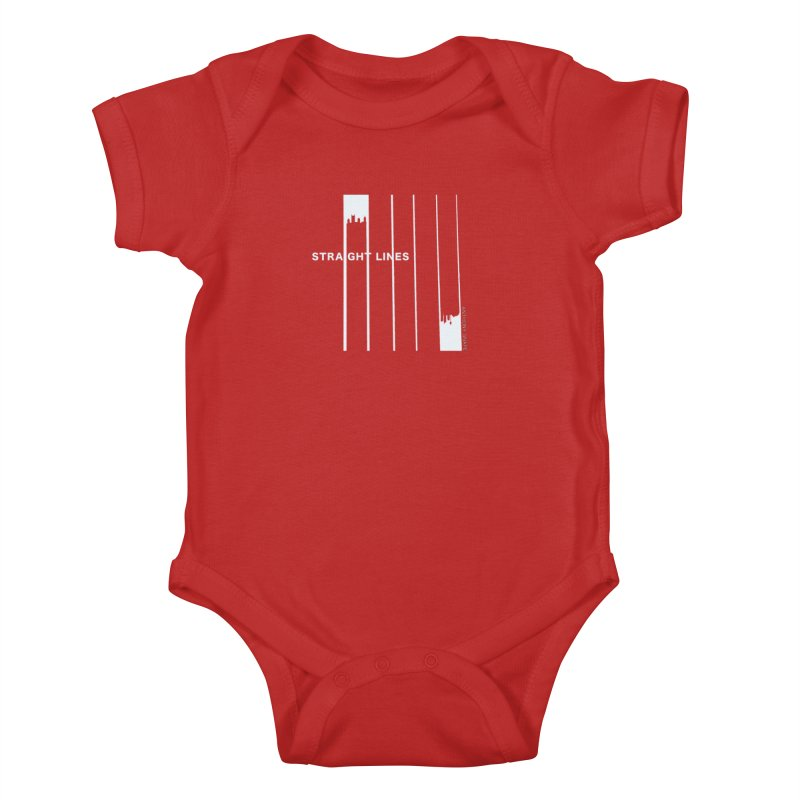 STRAIGHT LINES simple design Kids Baby Bodysuit by Home Store - Music Artist Anthony Snape