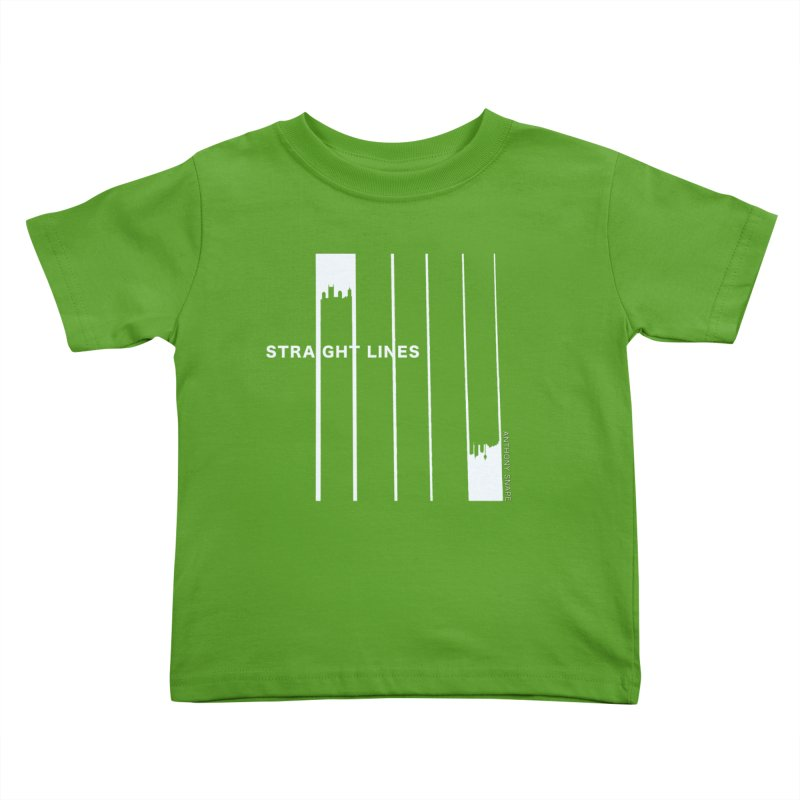 STRAIGHT LINES simple design Kids Toddler T-Shirt by Home Store - Music Artist Anthony Snape