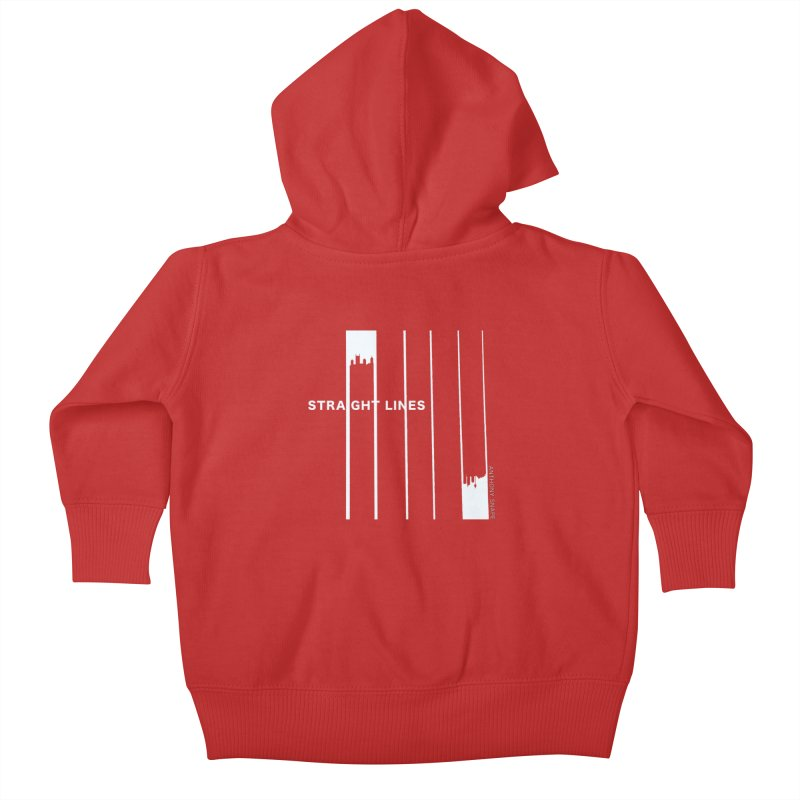 STRAIGHT LINES simple design Kids Baby Zip-Up Hoody by Home Store - Music Artist Anthony Snape
