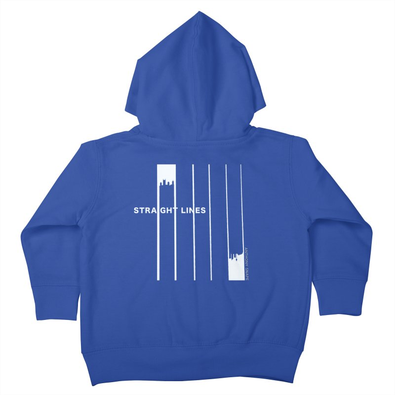 STRAIGHT LINES simple design Kids Toddler Zip-Up Hoody by Home Store - Music Artist Anthony Snape
